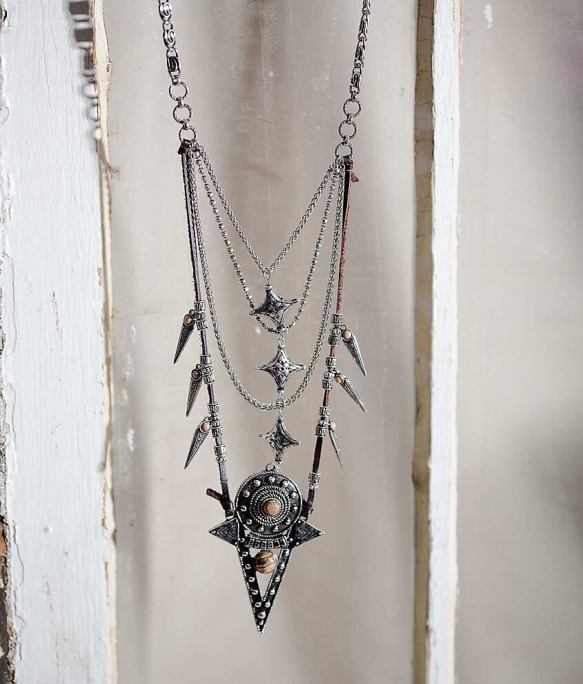 Gimmicks by BKE Spike Necklace front view
