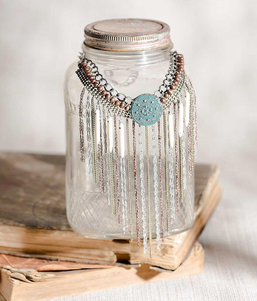 Gimmicks by BKE Fringe Necklace front view