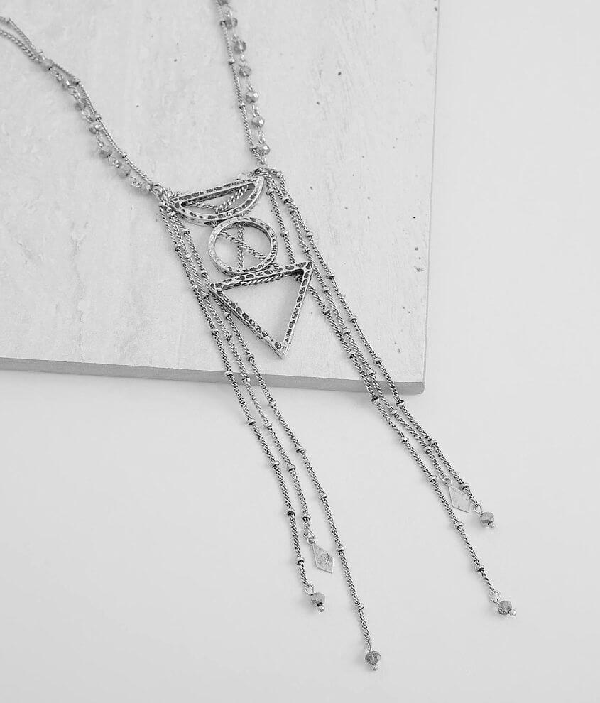 Festive Geometric Necklace front view