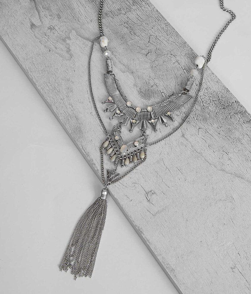 Festive Fringe Necklace front view