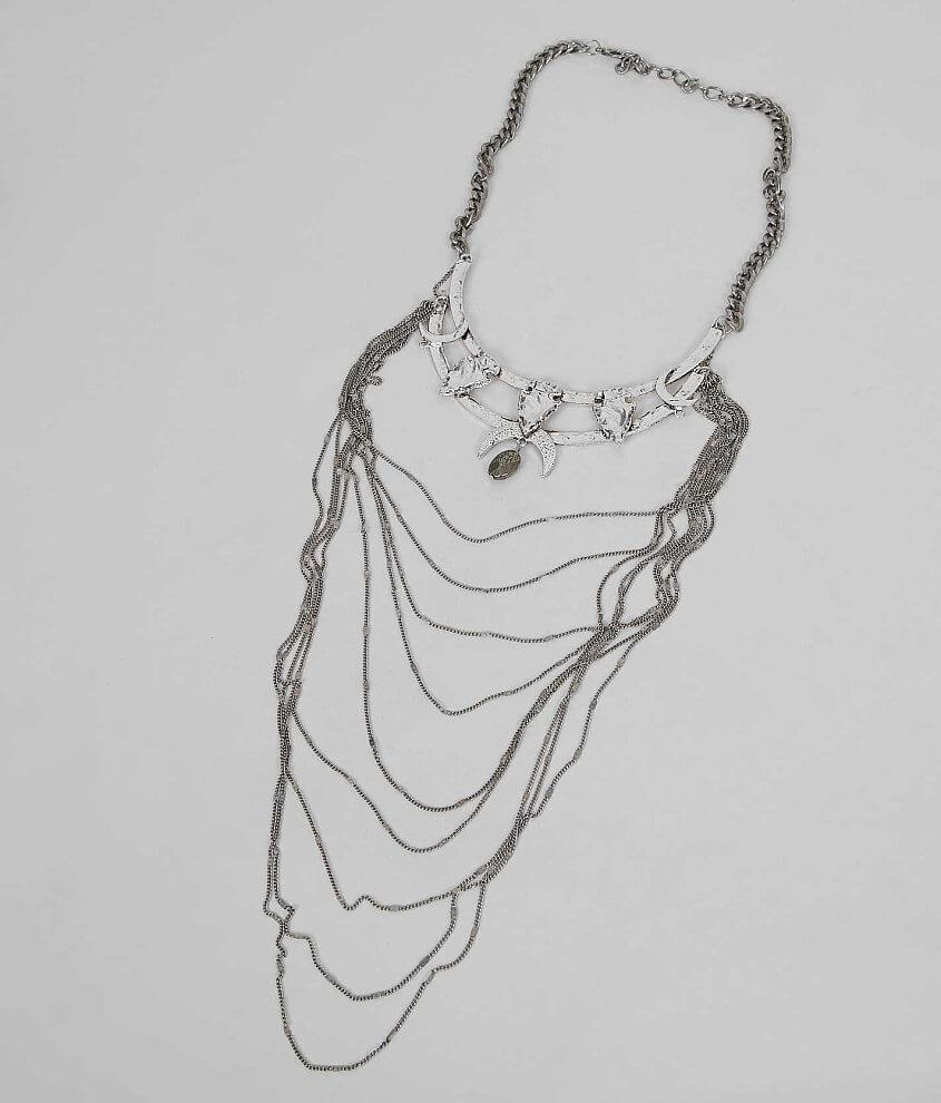 Festive Crescent Necklace front view