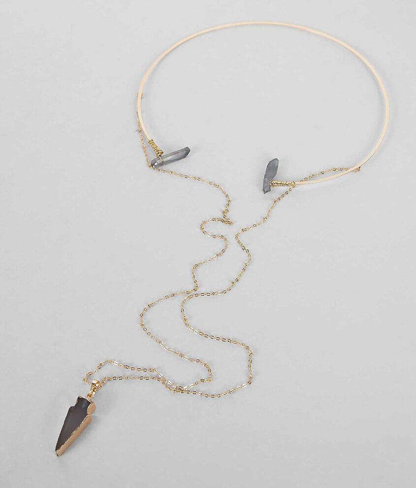 Festive Arrow Necklace front view