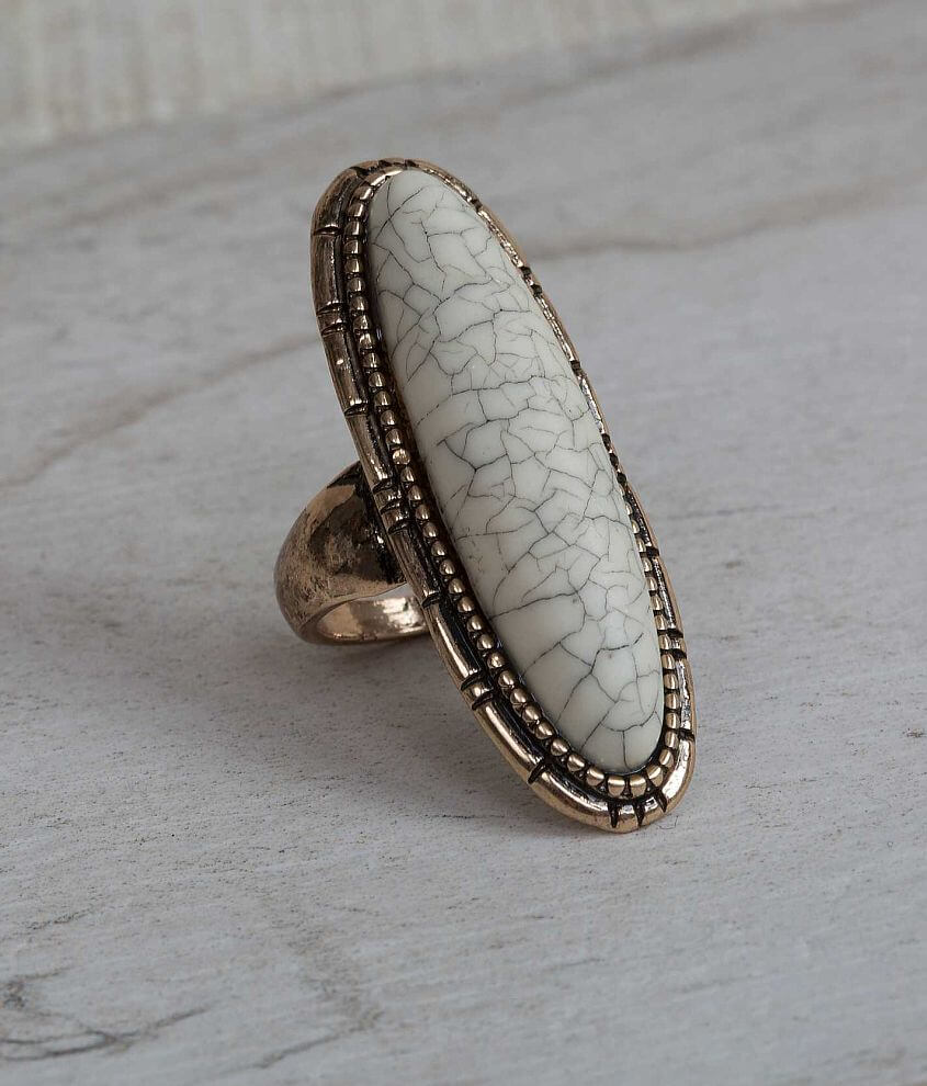 Festive Stone Ring front view