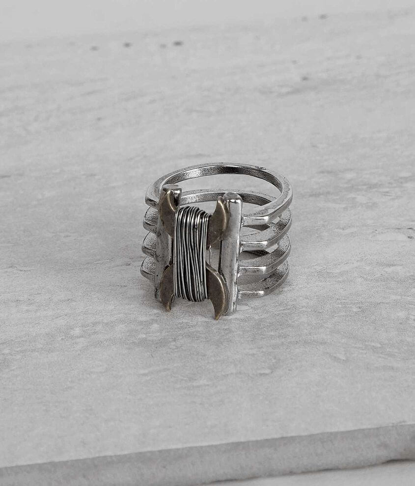 Festive Wire Wrapped Ring front view