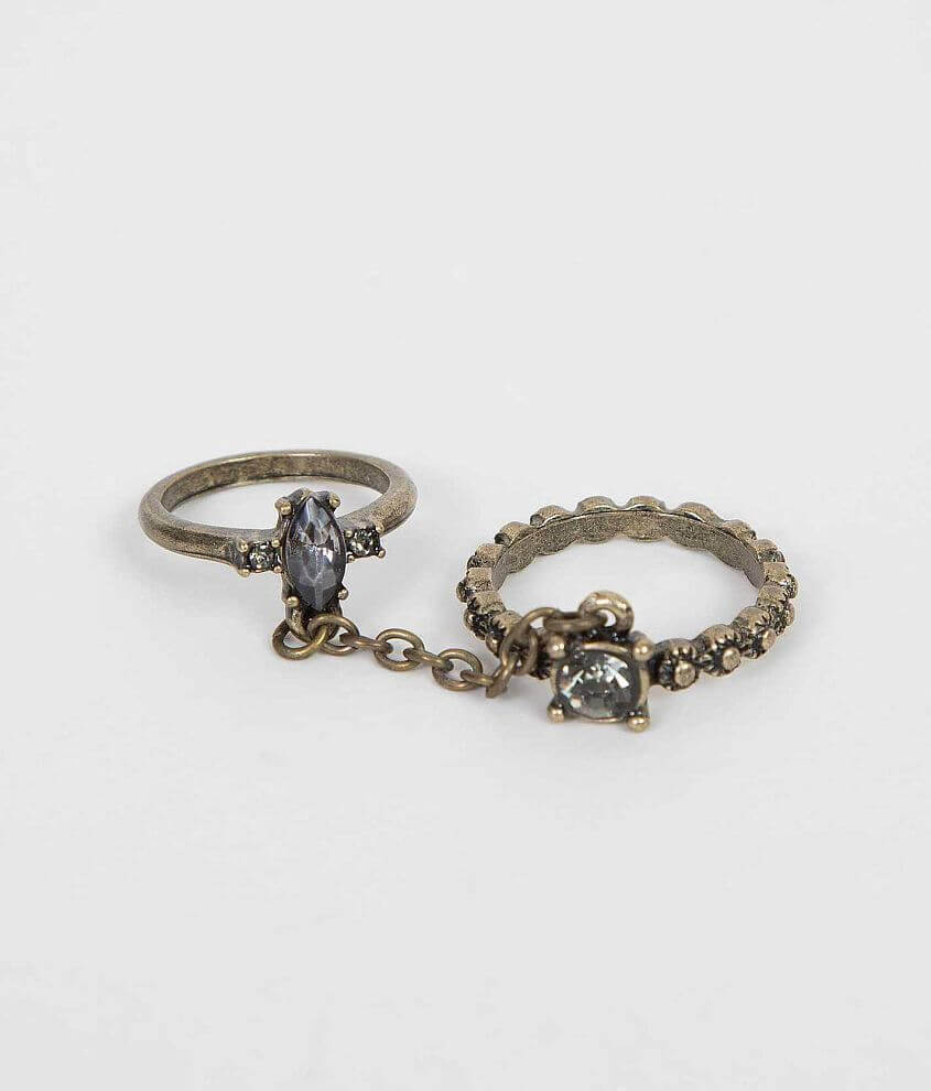 Festive Glitz Double Ring front view