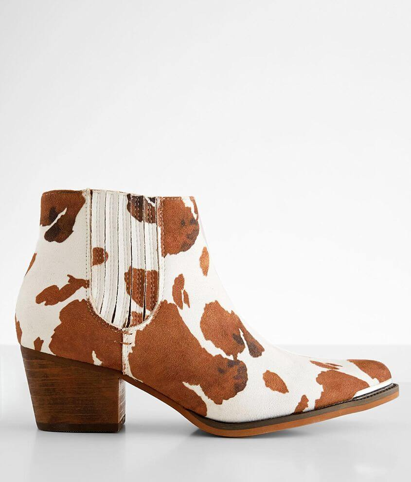 ARider Dolly Cow Print Ankle Boot front view