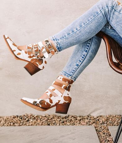 ARider Eleven Cow Print Ankle Boot