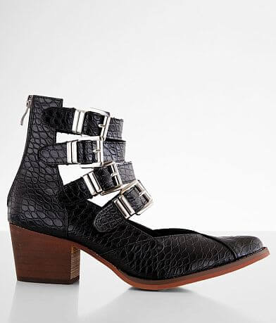 ARider Eleven Croco Heeled Ankle Boot
