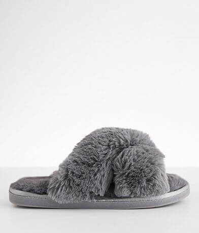Cozzy Girl Furry Open Toe Slipper