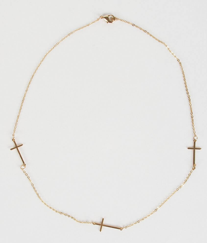 Daytrip Cross Necklace front view
