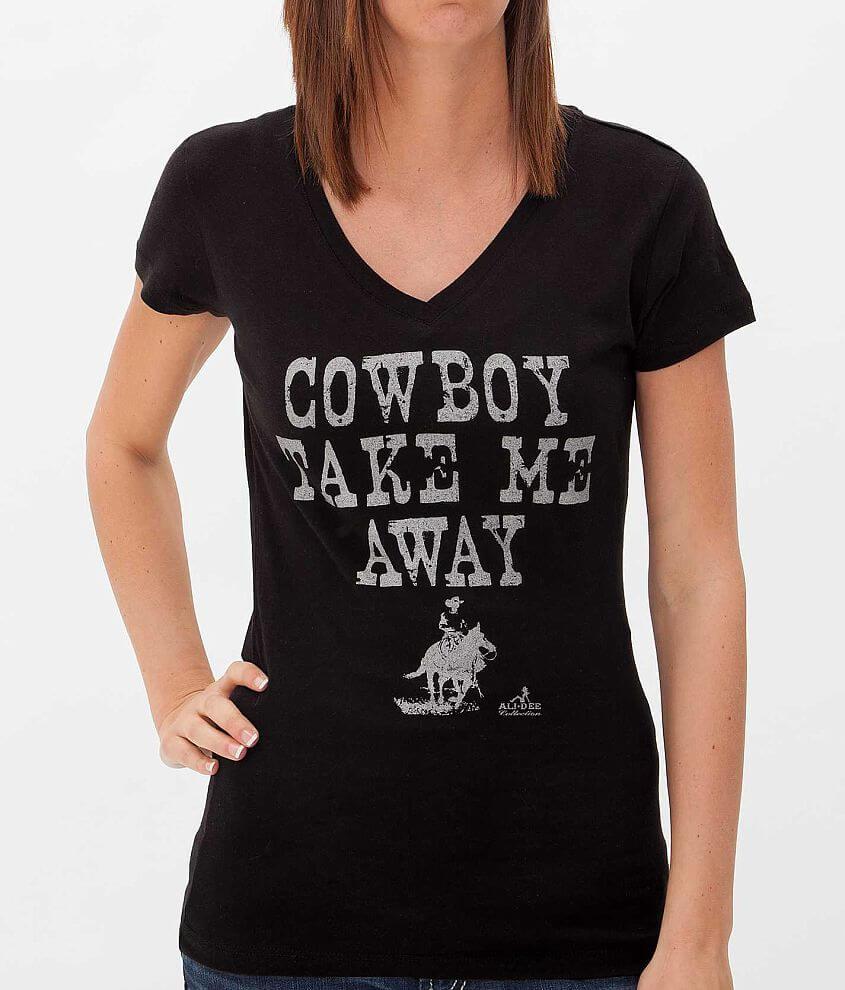 Ali Dee Collection Cowboy Take Me Away T-Shirt front view