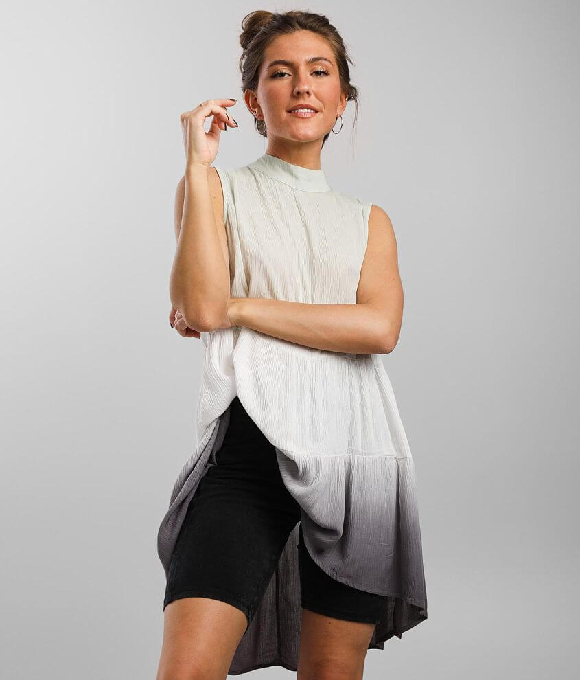 Daytrip Ombre Tunic Tank Top front view