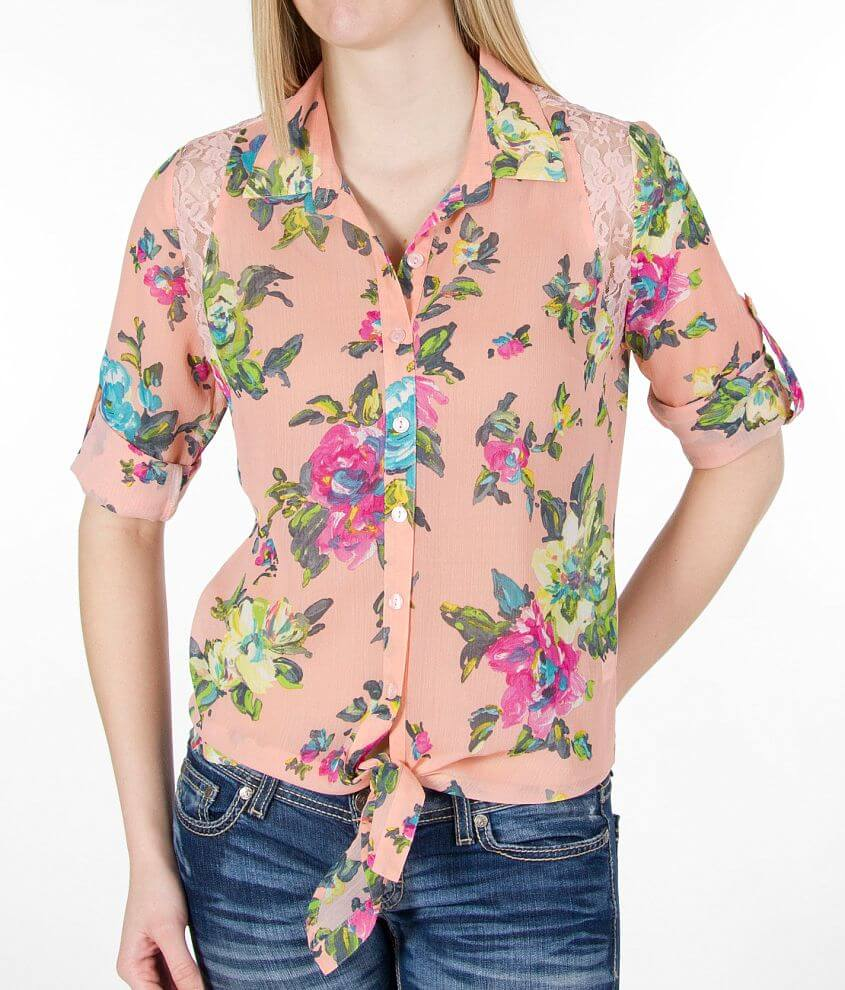 Daytrip Floral Print Shirt front view