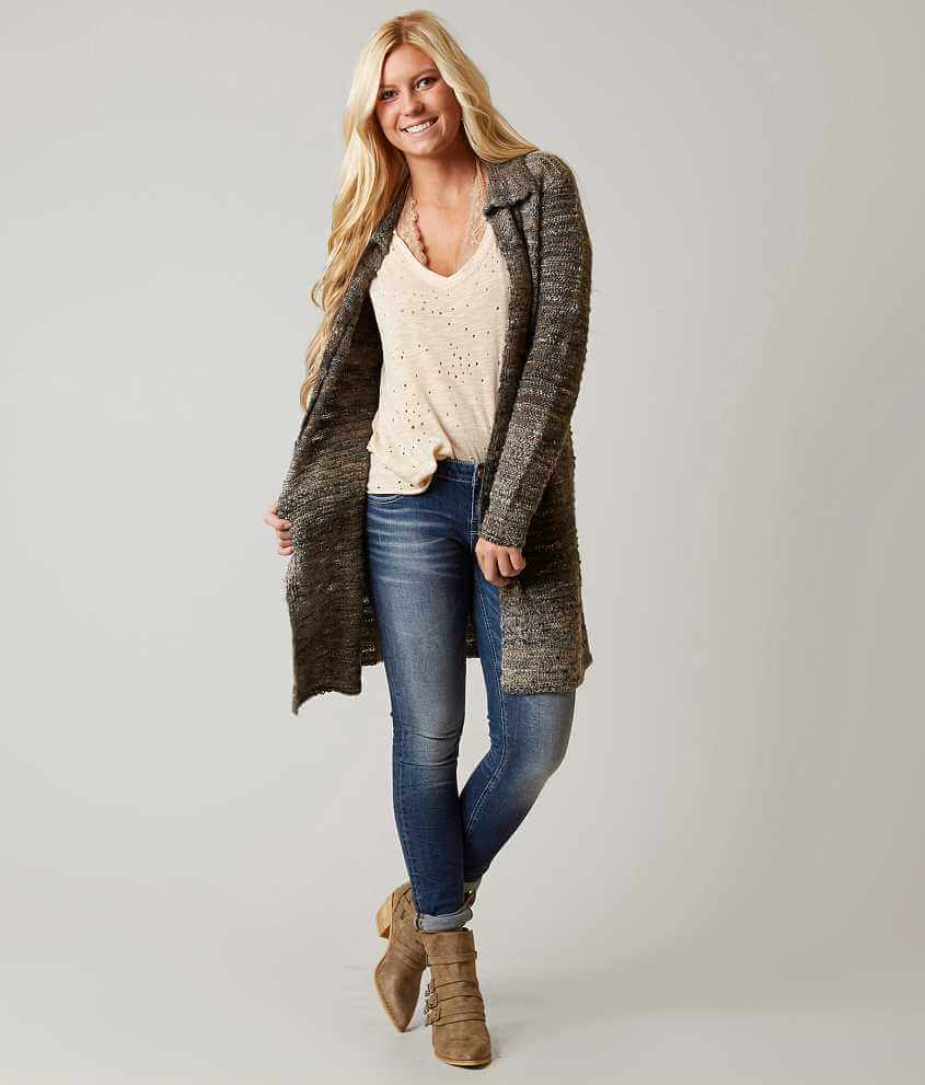Gimmicks Duster Cardigan Sweater - Women's Sweaters in Turquoise ...