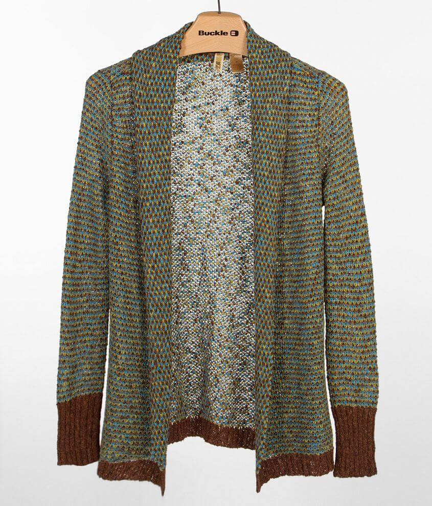 BKE Open Weave Cardigan Sweater front view