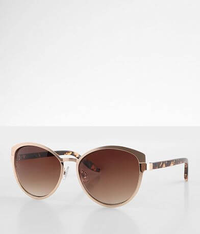 BKE Brushed Metal Cat Eye Sunglasses