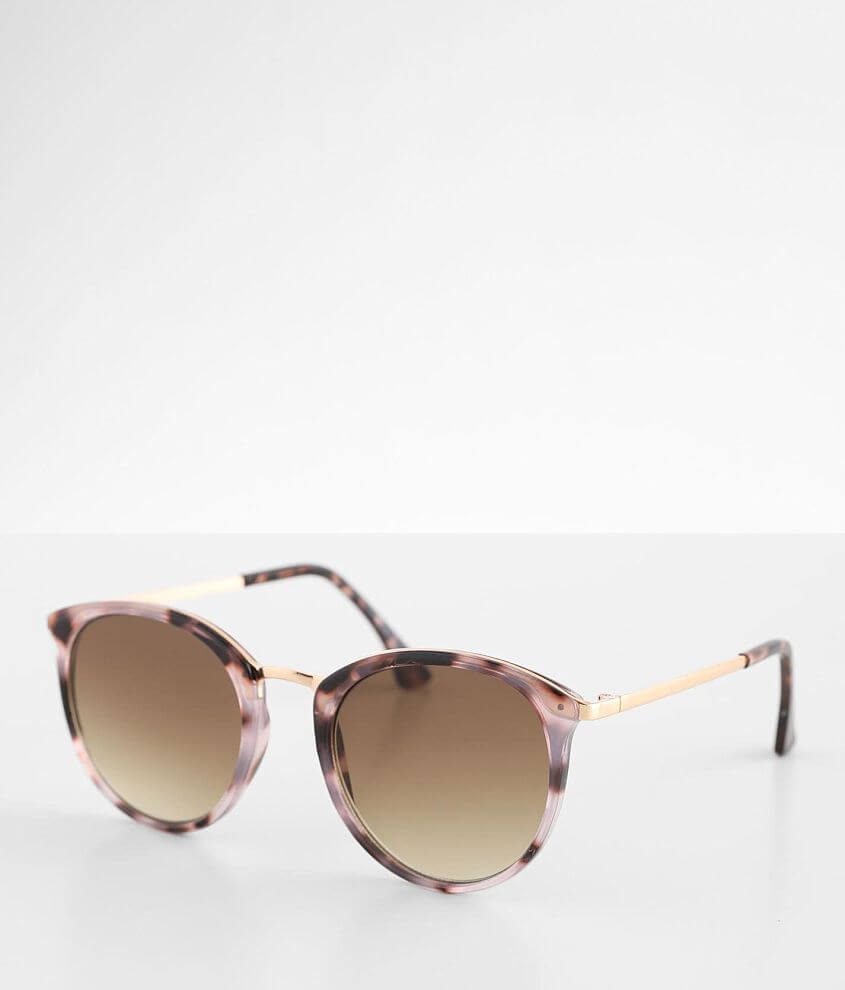BKE Round Tortoise Sunglasses front view