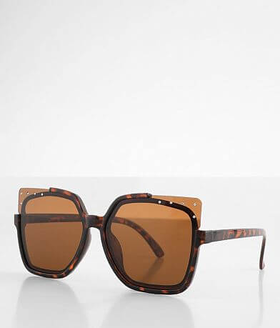 BKE Oversized Glitz Sunglasses