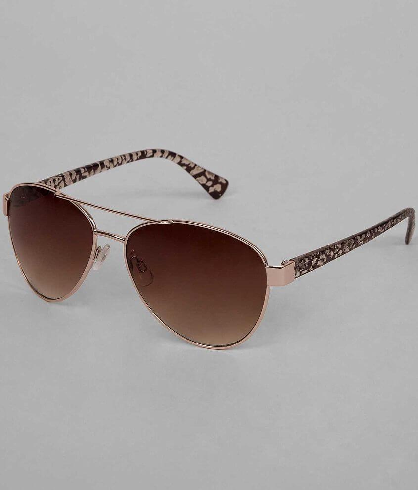 BKE Textured Aviator Sunglasses front view