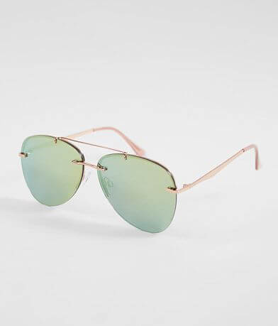 BKE Mirrored Rimless Sunglasses
