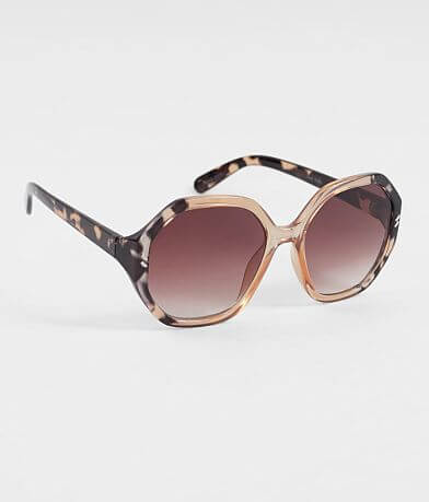 BKE Oversized Two-Tone Sunglasses