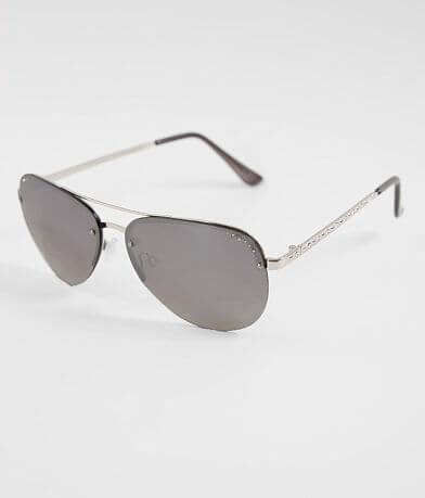 BKE Rimless Aviator Sunglasses