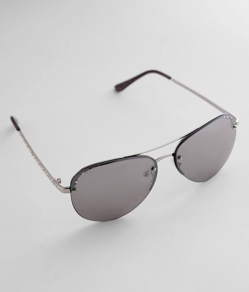 BKE Rimless Aviator Sunglasses front view