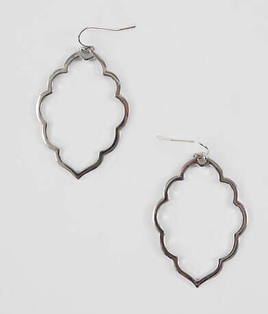 BKE Scalloped Metal Earring