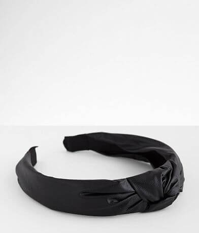 BKE Faux Leather Knotted Headband