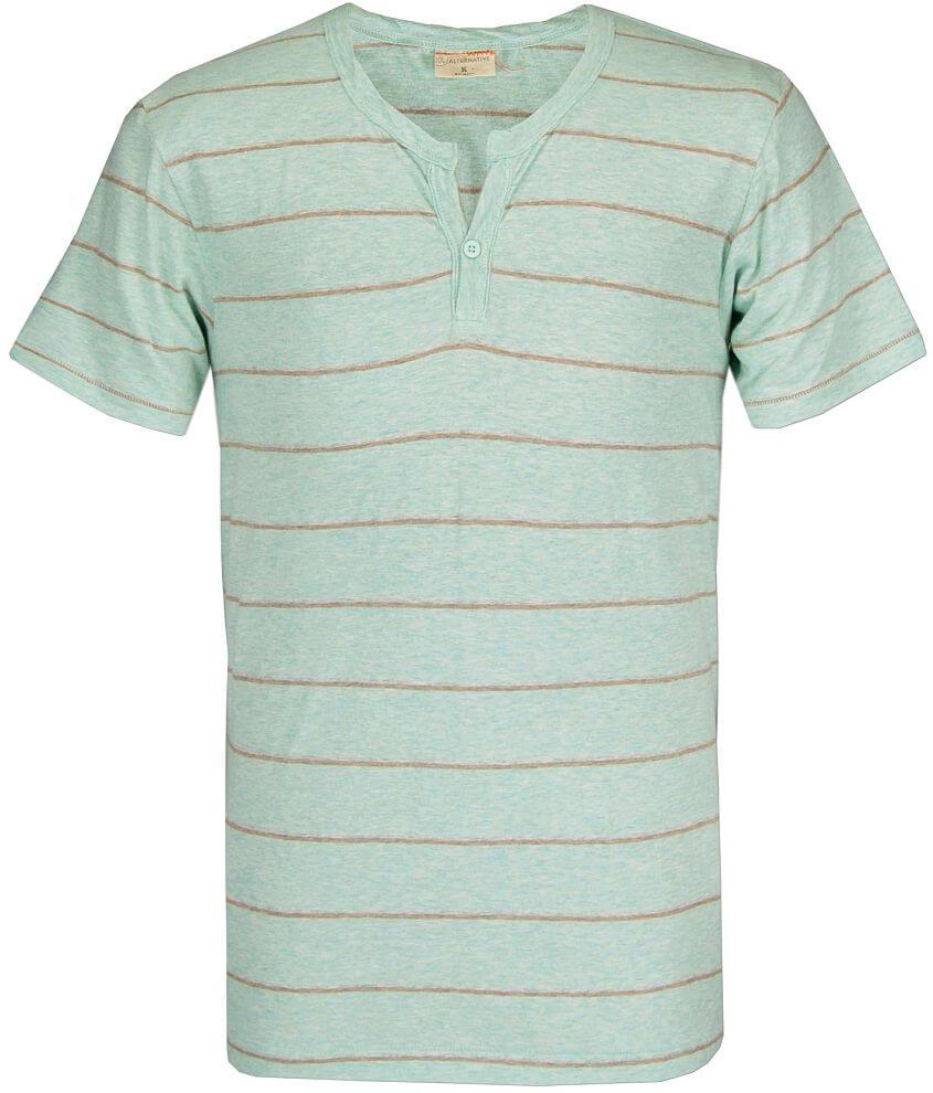 Alternative One Button Henley T-Shirt front view