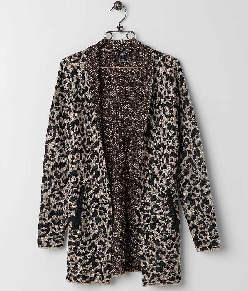 Daytrip Leopard Cardigan Sweater front view