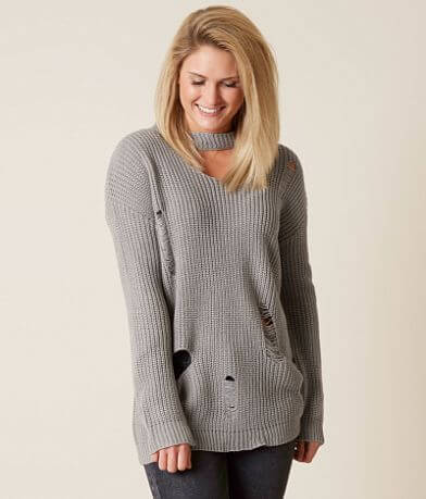 Love @ First Sight Distressed Sweater