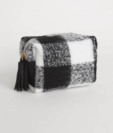 Violet Ray Plaid Cosmetic Bag