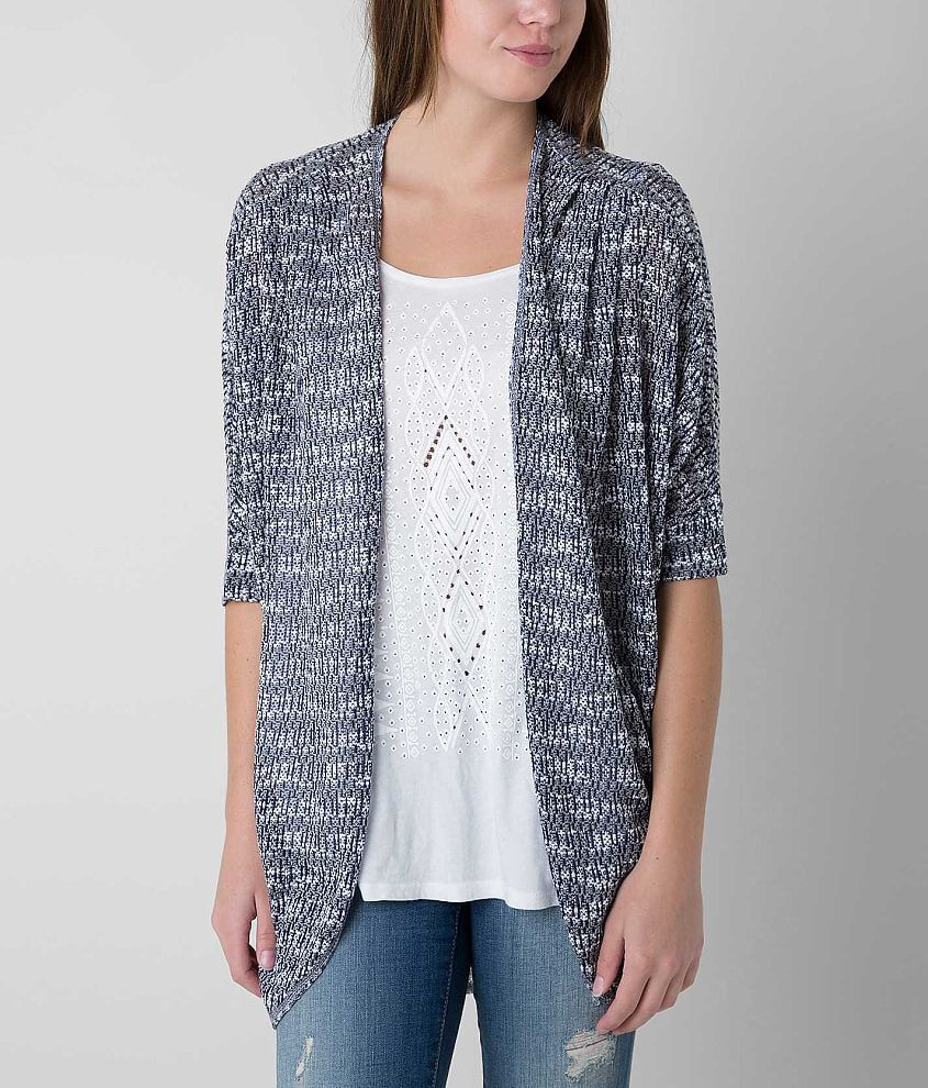 Daytrip Open Weave Cardigan Sweater front view