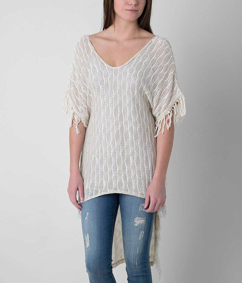 Daytrip Open Weave Poncho front view