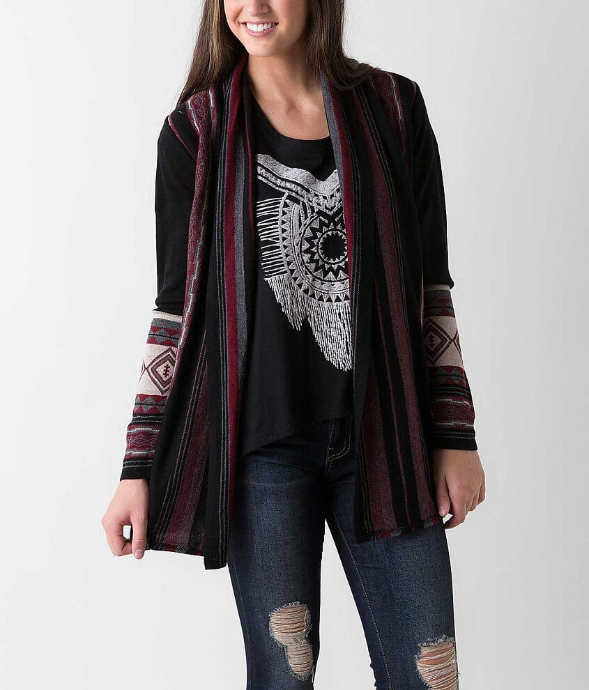 Daytrip Southwestern Cardigan Sweater front view