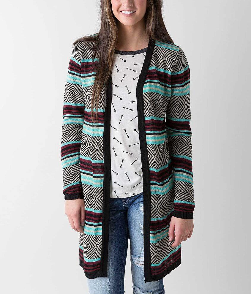 Daytrip Geo Cardigan Sweater front view