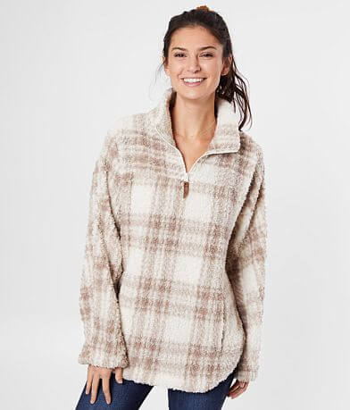 BKE Plaid Wubby Pullover