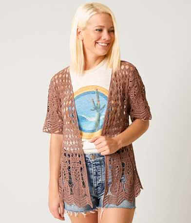 Daytrip Pointelle Lace Cardigan