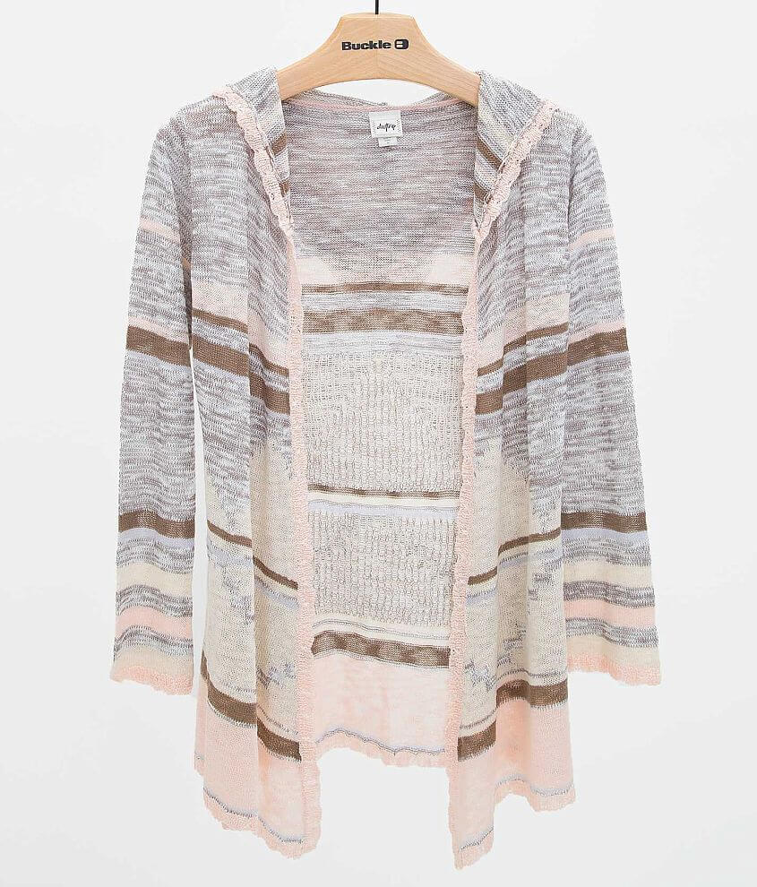 Daytrip Striped Cardigan Sweater front view