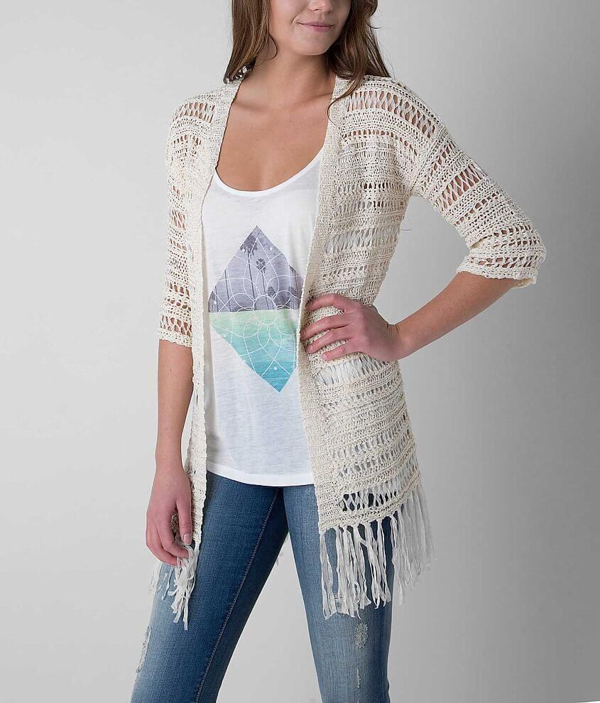Daytrip Tape Yarn Cardigan Sweater front view