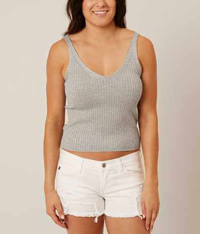 Daytrip Ribbed Sweater Tank Top