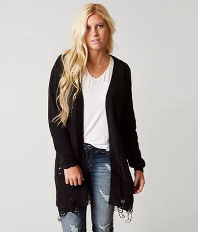 Daytrip Shredded Cardigan Sweater