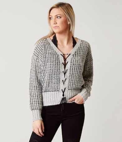 Daytrip Lace-Up Sweater