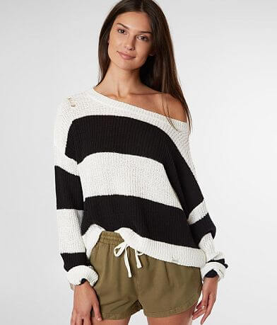 Daytrip Destructed Chunky Striped Sweater