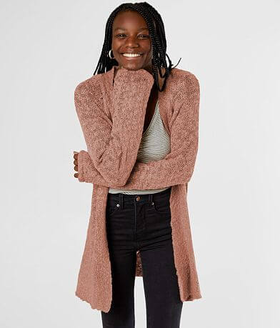 Say What? Slub Knit Cardigan Sweater