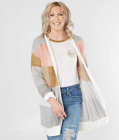 Daytrip Checker Board Cardigan Sweater