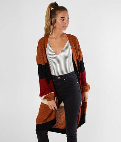 Say What? Color Block Cardigan Sweater