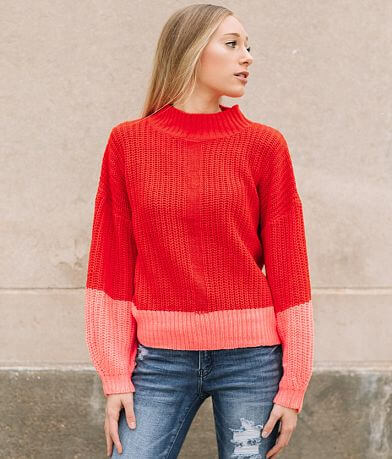 Willow & Root Chunky Color Block Sweater