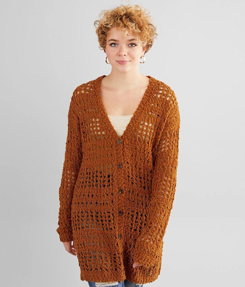 Daytrip Chenille Cardigan Sweater front view